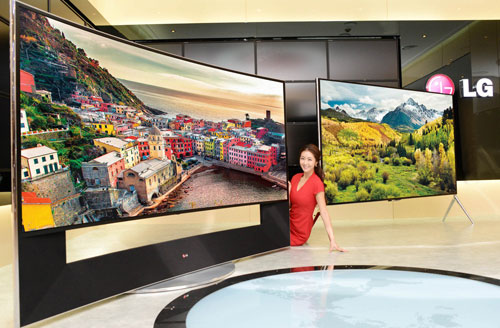 LG 105-inch curved UltraHD TV