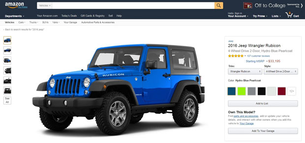 Amazon Vehicles Jeep Wrangler