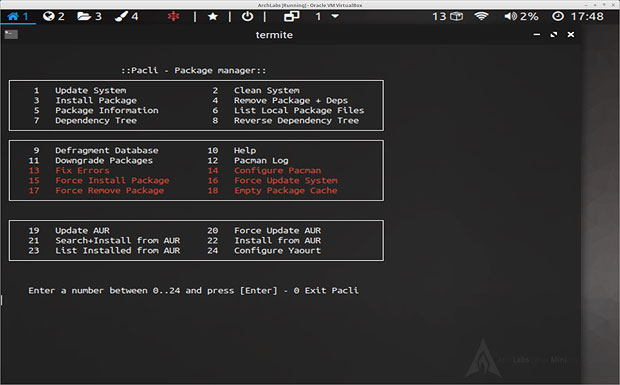ArchLab Linux package manager