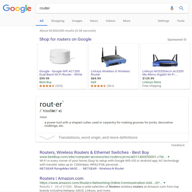 Shop for routers on Google