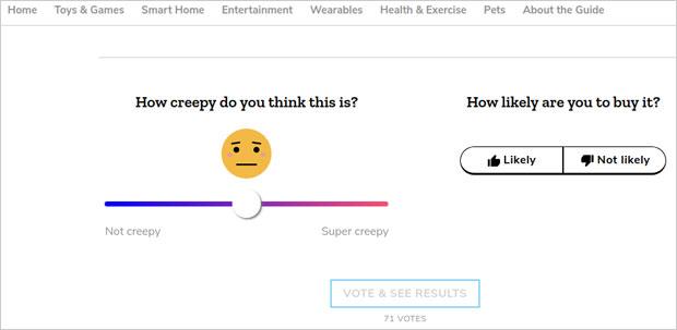 Mozilla Creepiness Scale