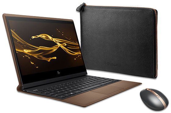 HP Spectre Folio 13-inch PC, Spectre Rechargeable Mouse, Spectre Leather Sleeve Bundle