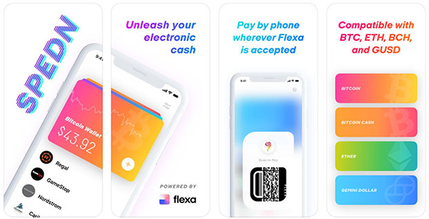Spedn by Flexa cryptocurrency app