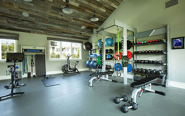family home gym design pelaton rax cross fit