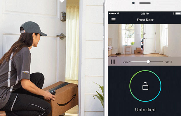 Amazon Key in-home driver delivery