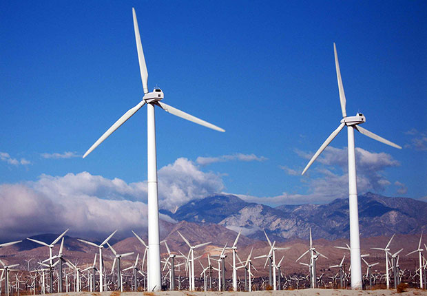 machine learning can be used to predict wind power allowing optimal use of wind farm turbines