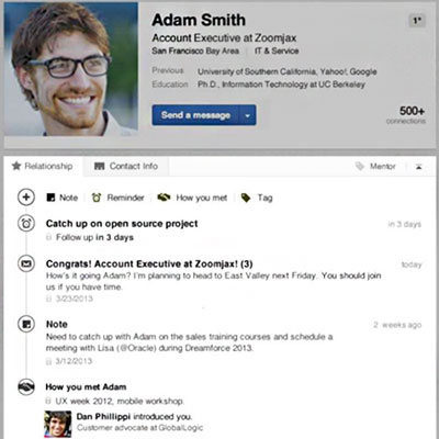 LinkedIn's New Contact App